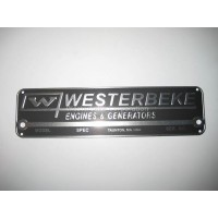 Westerbeke 035411, Nameplate,Logo, Part 35411