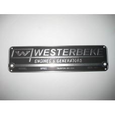 Westerbeke 035411, Nameplate,Logo, Part 35411